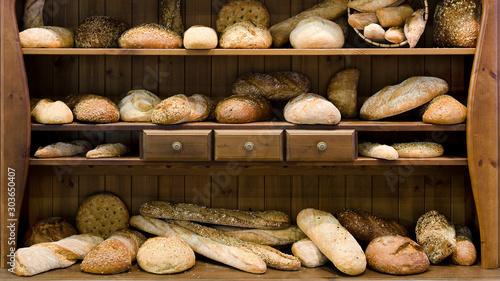 Foto Brot, bio, Holz, Vintage