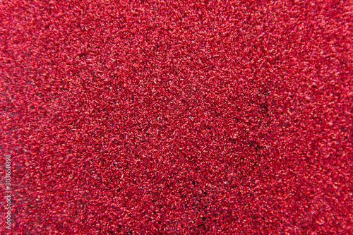 Defocused red glitter background. Gold abstract bokeh background. Christmas abstract background - 303650898