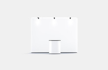 Blank White Trade Show Booth M...