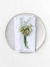 Place Setting With A Napkin An...