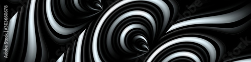 Photo  Digital art, panoramic abstract 3D objects, Germany