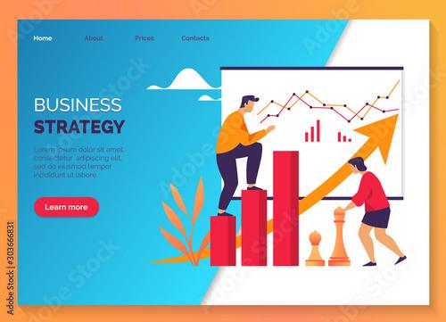 Business strategy, marketing work development plan Wallpaper Mural
