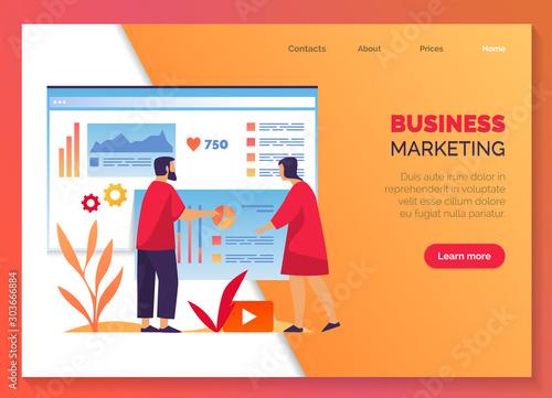 Business marketing, company development management Canvas Print
