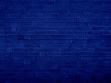 Grunge Brick Wall Blue Texture...