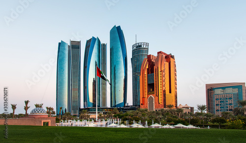 Canvas Prints Abu Dhabi Abu Dhabi skyscrapers at the downtown