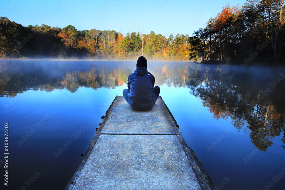 Fototapety, obrazy: Quiet morning on Lake Norman