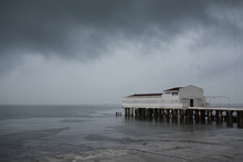Storm At The Pier On The Sea, ...