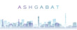Ashgabat Transparent Layers Gradient Landmarks Skyline