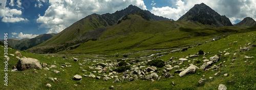 landscape mountains, Tien Shan ridges, Kyrgyzstan - 303691496
