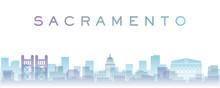 Sacramento Transparent Layers Gradient Landmarks Skyline