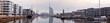 Bremerhaven in Norddeutschland, Panorama Neuer Hafen mit Marina und Sehenswürdigkeiten