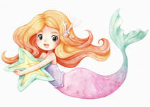 Little Mermaid Character Carto...