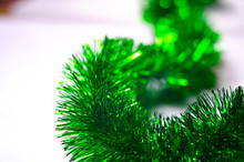 Green Fluffy Macro Rain Garlan...
