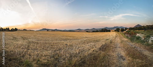 Fototapeta fields in the Czechs, the vastness of the hills obraz