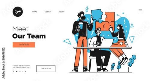Presentation slide template or landing page website design Canvas-taulu