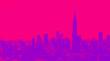 Leinwanddruck Bild - Aerial view of the New York City skyline near Midtown with duotone