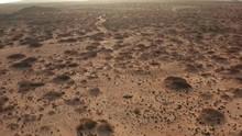 Desert Shrub Aerial With Sand And Brush