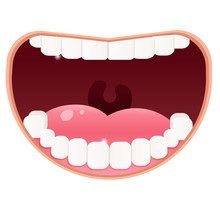 Color Image Of Open Mouth With...