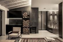 Trendy Modern Spa Interior Wit...