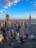 Fototapeta Nowy Jork - NYC skyline from top in evening