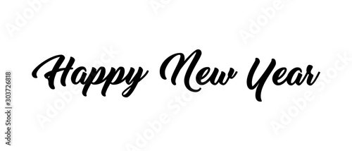 Happy new year calligraphic text for greeting card Canvas-taulu