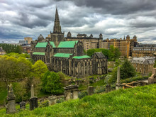 Saint Mungo's Cathedral And Glasgow Necropolis, Glasgow, Scotland, United Kingdom