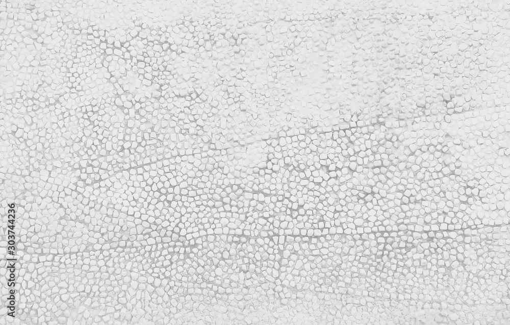 Fototapety, obrazy: Small stone texture decorative on concrete wall  in seamless patterns , white or gray background