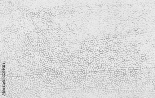 Obraz Small stone texture decorative on concrete wall  in seamless patterns , white or gray background - fototapety do salonu