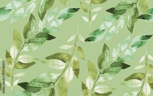 akwarela-bezszwowe-wzor-zielone-wiosenne-liscie