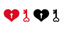 Heart Vector Valentine Key Ico...