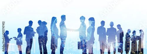 Fototapeta ビジネスグループ チームワーク