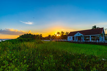 Beautiful Sunset Along The Suriname River In Paramaribo