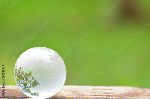 Fotografie, Obraz ガラスの地球儀