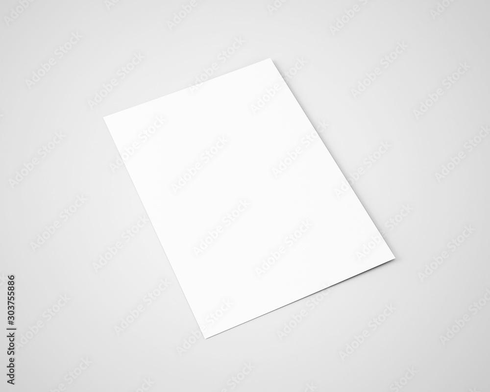 Fototapeta A5 A4 Flyer White Blank Mockup