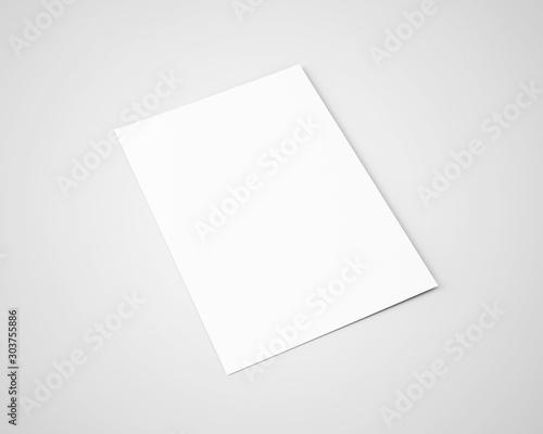 Obraz A5 A4 Flyer White Blank Mockup - fototapety do salonu
