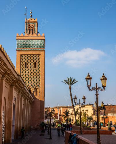 Fotografie, Tablou  view of Moulay El Yazid Mosque, Marrakesh, Morocco