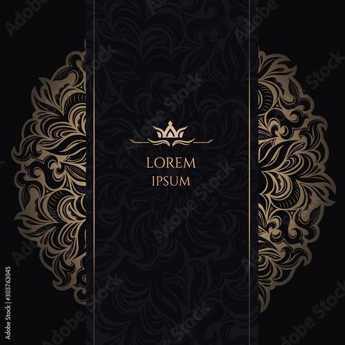 Mandala Luxury Background, ornament template for wedding invitation, book cover, Fototapete