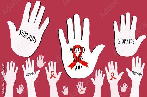 Photo World Aids Day concept