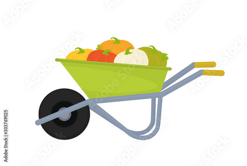 Photographie wheelbarrow with tools