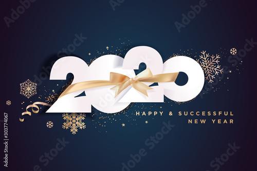 Canvastavla  Business Happy New Year 2020 greeting card