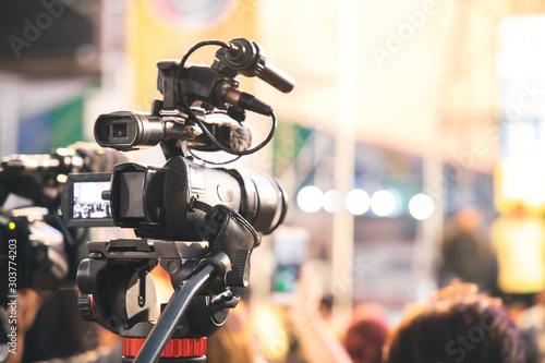 Professional video camera with abstract blurred background Tapéta, Fotótapéta