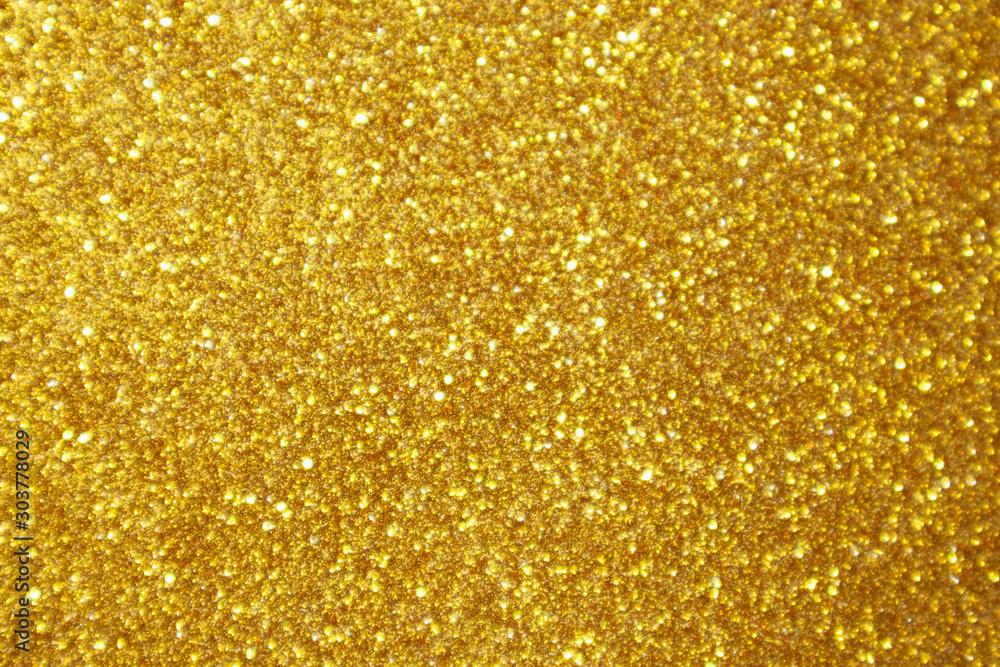 Fototapety, obrazy: Abstract gold glitter sparkle bokeh light background