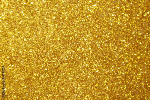 Obraz Abstract gold glitter sparkle bokeh light background - fototapety do salonu