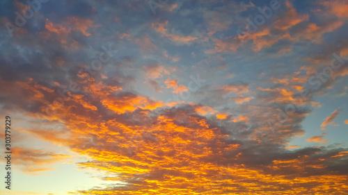 Recess Fitting Deep brown Fiery sunrise sky background