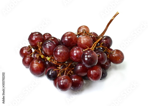 A bunch of overripe grapes isolated on white background. Canvas-taulu