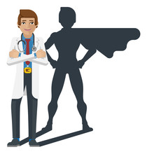 A Young Medical Doctor Revealed As Super Hero By His Shadow Silhouette