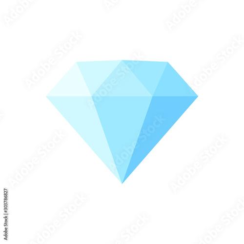 Cartoon flat style diamond icon outline shape Fototapete