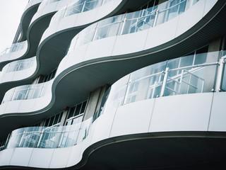 Architecture detail Modern building Terrace design Glass panel pattern