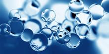 Model Of The Molecule On A Blu...