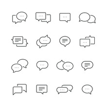 Chat Bubble Related Icons: Thi...